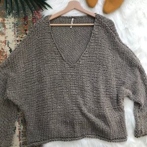 Free People • Oversized V-Neck Pullover Sweater
